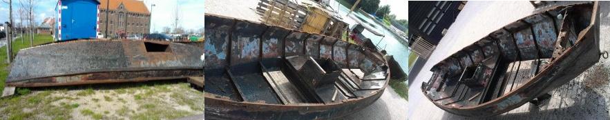 Fuikenboot HN1 schroothoop of restauratie